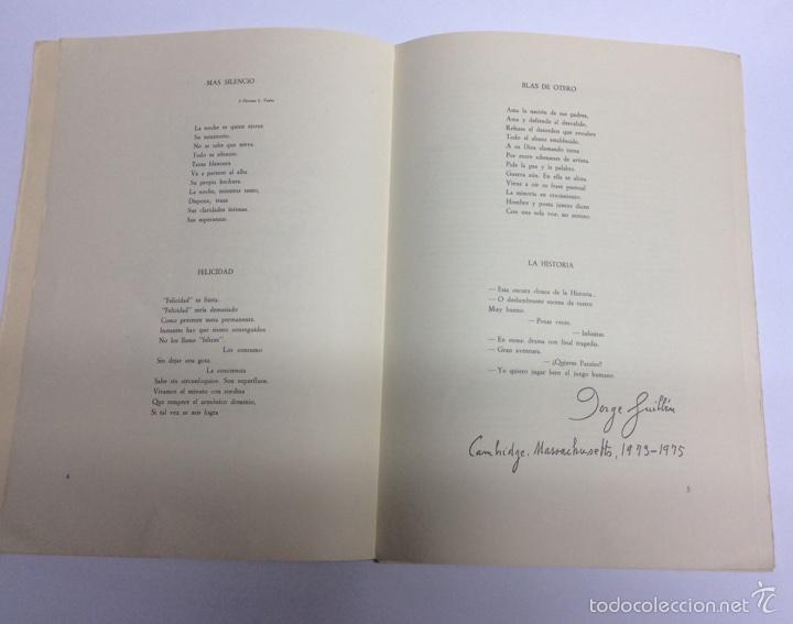 Libros de segunda mano: Pliegos de poesía Peña labra Nº 15 jorge guillen - Foto 3 - 61425369