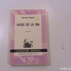 Libros de segunda mano: HIJOS DE LA IRA. (AUTOR: DÁMASO ALONSO) . Lote 62717096