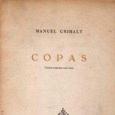 Libros de segunda mano: MANUEL GRIMALT : COPAS - VEINTE SONETOS CON VINO (ATZAVARA, 1961). Lote 62722972