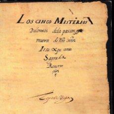 Libros de segunda mano: LOS CINCO MISTERIOS DOLOROSOS DE LA PASIÓN Y MUERTE... (LOPE DE VEGA). 2004. SIN USAR.. Lote 63241756