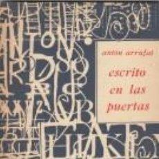 Libros de segunda mano: ANTÓN ARRUFAT ESCRITO EN LAS PUERTAS CUADERNOS UNIÓN LA HABANA 1968 PRIMERA EDICIÓN. Lote 63669279