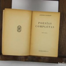 Libros de segunda mano: 4765- ANTONIO MACHADO POESIAS COMPLETAS. EDIT. ESPASA-CALPE. 1962.. Lote 43749578