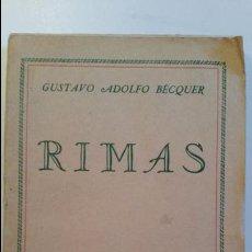 Libros de segunda mano: RIMAS GUSTAVO ADOLFO BECQUER LIBRERÍA INTERNACIONAL SAN SEBASTIÁN 1938. Lote 64119379