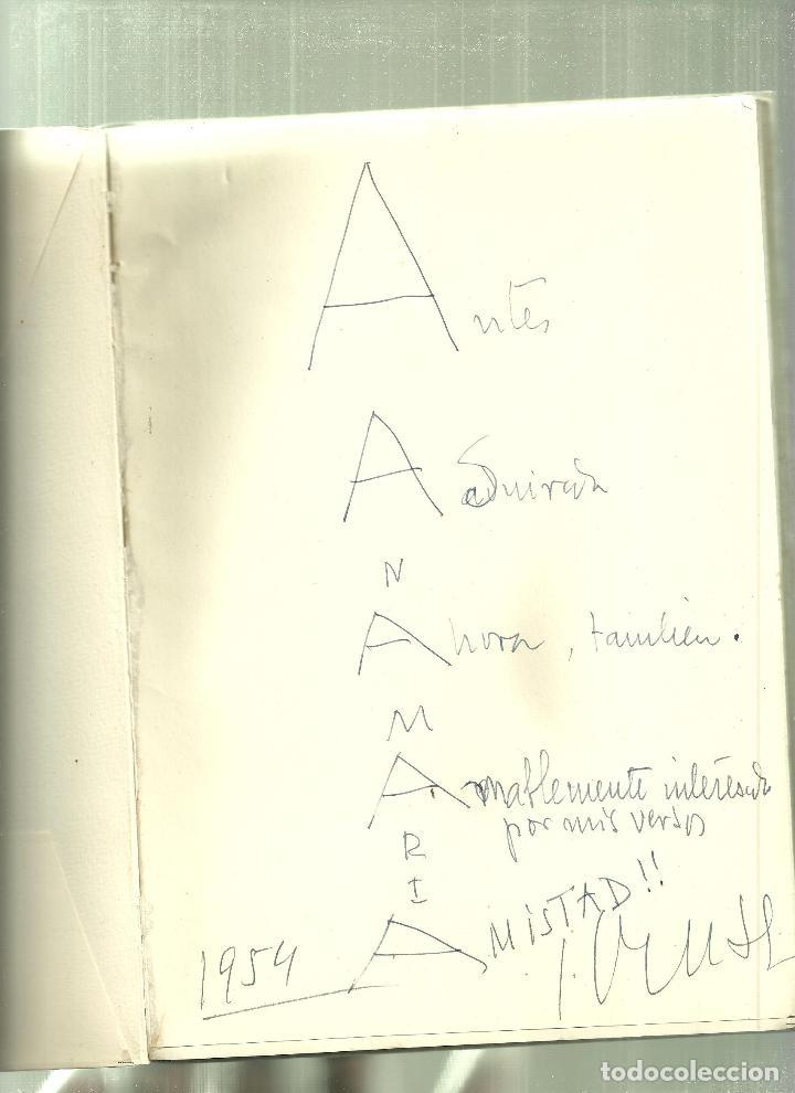 Libros de segunda mano: 1757.-SOMBRA (POESIA) DE JOSE CRUSET-DEDICATORIA AUTOGRAFA EN FORMA DE CALIGRAMA - Foto 2 - 66136014