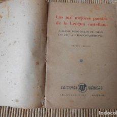 Libros de segunda mano: LAS MIL MEJORES POESÍAS DE LA LENGUA CASTELLANA . Lote 66859966