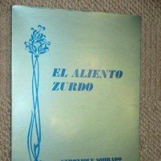 Libros de segunda mano: EL ALIENTO ZURDO, POR VERONIQUE SOBRADO. DEDICATORIA AUTÓGRAFA CON DIBUJO, SANTANDER 1994. Lote 67885237