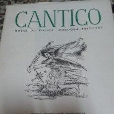 Libros de segunda mano: CÁNTICO. MARIE CHRISTINE DEL CASTILLO Y ABELARDO LINARES. Lote 67565829