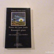 Libros de segunda mano: POEMA DEL CANTE JONDO. ROMANCERO GITANO. (AUTOR: FEDERICO GARCÍA LORCA) . Lote 68366221