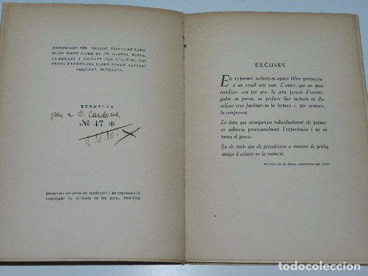 Libros de segunda mano: LIBRO - JV FOIX - LES IRREALS OMEGUES , EDC AMICS DE LES ARTS 1949, 1EDC, SIGNAT PER L'AUTOR - Foto 3 - 71932483