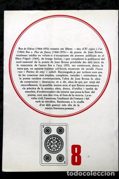 Libros de segunda mano: RUA DE LLIBRES - JOAN BROSSA - 1980 - PRIMERA EDICION - TAPIES - Foto 3 - 73420983