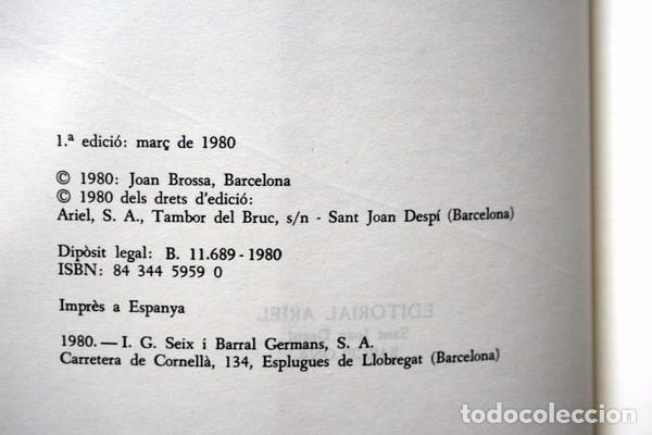 Libros de segunda mano: RUA DE LLIBRES - JOAN BROSSA - 1980 - PRIMERA EDICION - TAPIES - Foto 7 - 73420983