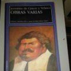 Libros de segunda mano: JERÓNIMO DE CÁNCER Y VELASCO, OBRAS VARIAS·ED RUS SOLERA LÓPEZ- ARAGON.BARBASTRO (HUESCA). Lote 73492775