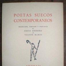 Libros de segunda mano: POETAS SUECOS CONTEMPORANEOS. Lote 73497271