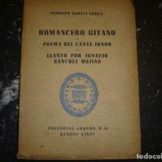 Libros de segunda mano: ROMANCERO GITANO FEDERICO GARCIA LORCA 1950 BUENOS AIRES. Lote 75437019