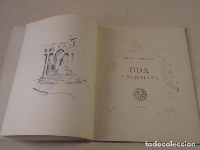 ODA A BARCELONA - JACINTO VERDAGUER - AÑO 1946 - EDICIÓN DE 130 EJEMPLARES (Libros de Segunda Mano (posteriores a 1936) - Literatura - Poesía)