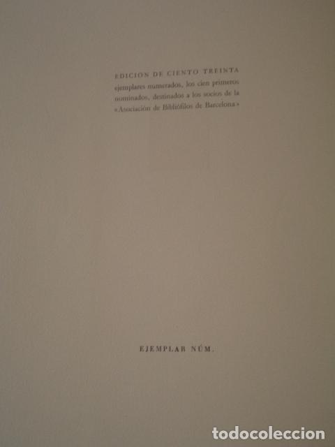 Libros de segunda mano: ODA A BARCELONA - JACINTO VERDAGUER - AÑO 1946 - EDICIÓN DE 130 EJEMPLARES - Foto 2 - 75586651