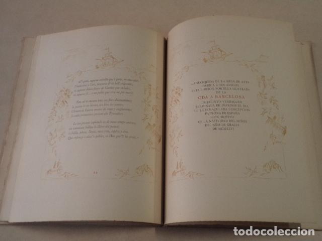 Libros de segunda mano: ODA A BARCELONA - JACINTO VERDAGUER - AÑO 1946 - EDICIÓN DE 130 EJEMPLARES - Foto 4 - 75586651