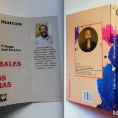 Libros de segunda mano: JULIÁN MARCOS, 2 LIBROS: EL CARNAVAL Y TERRITORIO + LOS CANÍBALES Y OTROS POEMAS. Lote 76803603