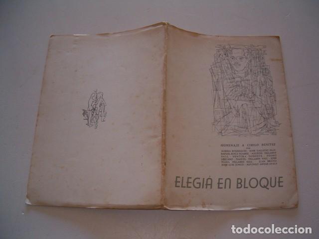 VV. AA. ELEGÍA EN BLOQUE. HOMENAJE A CIRILO BENÍTEZ. RM79059. (Libros de Segunda Mano (posteriores a 1936) - Literatura - Poesía)