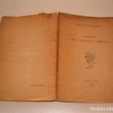 Libros de segunda mano: OTTO JOSÉ CAMESELLE BARCIA. POESÍAS DE LA RAZÓN CORDIAL. RM79232. . Lote 77870481
