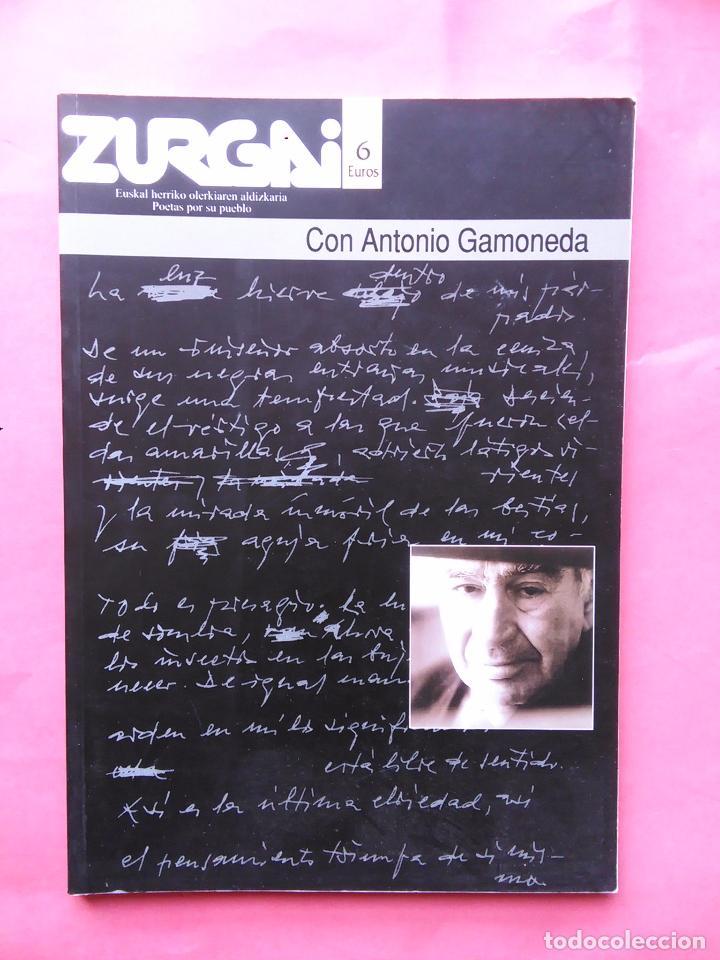 REVISTA ZURGAI POETAS POR SU PUEBLO DICIEMBRE 2001 CON ANTONIO GAMONEDA (Libros de Segunda Mano (posteriores a 1936) - Literatura - Poesía)