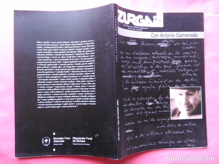 Libros de segunda mano: REVISTA ZURGAI POETAS POR SU PUEBLO DICIEMBRE 2001 CON ANTONIO GAMONEDA - Foto 4 - 79664377