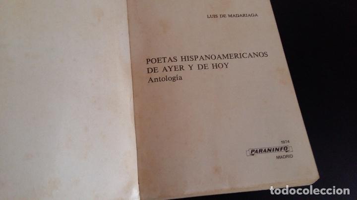 Libros de segunda mano: poetas hispanoamericanos de ayer y de hoy / antologia / luis de madariaga - Foto 2 - 79998469