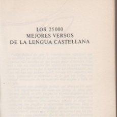 Libros de segunda mano: LOS 25000 MEJORES VERSOS DE LA LENGUA CASTELLANA CIRCULO DE LECTORES 474 PAGINAS AÑO 1963 LL1928. Lote 81288532