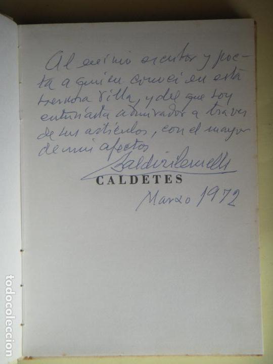 Libros de segunda mano: CALDETES - POESIES - BALDIRI CRUELLS I FOLGUERA - 1969, 1ª EDICIÓ - SIGNAT I DEDICAT PER L'AUTOR - Foto 3 - 81684260
