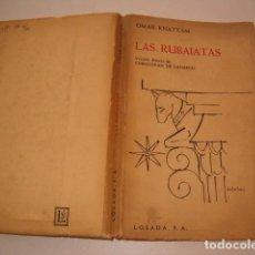 Libros de segunda mano: OMAR KHAYYÁM. LAS RUBAIATAS. RM79675. . Lote 81767184