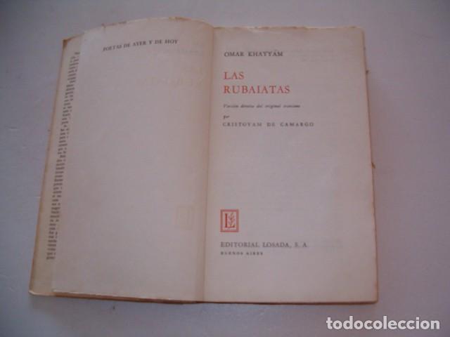 Libros de segunda mano: OMAR KHAYYÁM. Las Rubaiatas. RM79675. - Foto 2 - 81767184