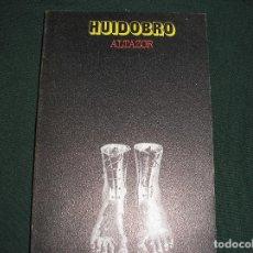 Libros de segunda mano: ALTAZOR.- HUIDOBRO.- VISOR 1973. Lote 86550640