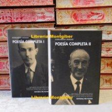 Libros de segunda mano: POESIA COMPLETA . 2 VOLS. AUTOR : DIEGO, GERARDO . Lote 86689916