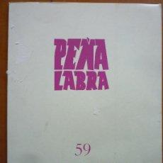 Libros de segunda mano: PEÑA LABRA 59 PLIEGOS DE POESIA. Lote 86703872
