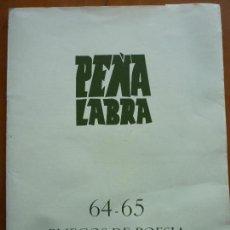 Libros de segunda mano: PEÑA LABRA 64-65 PLIEGOS DE POESIA. Lote 86704296