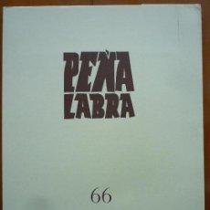 Libros de segunda mano: PEÑA LABRA 66 PLIEGOS DE POESIA. Lote 86704528