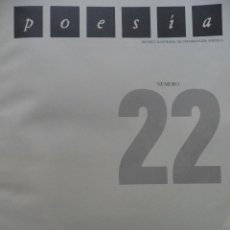 Libros de segunda mano: REVISTA POESÍA 22 DIDICADA AL CINE. 1985. Lote 87073100
