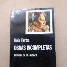 Libros de segunda mano: GLORIA FUERTES OBRAS INCOMPLETAS. ED CÁTEDRA 1978 CUARTA EDICIÓN - TAPA BLANDA. Lote 88118748