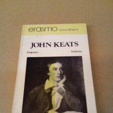 Livres d'occasion: JOHN KEATS. ENDIMION (ENDYMION). BILINGÜE. 1ª ED 1977. Lote 90623890