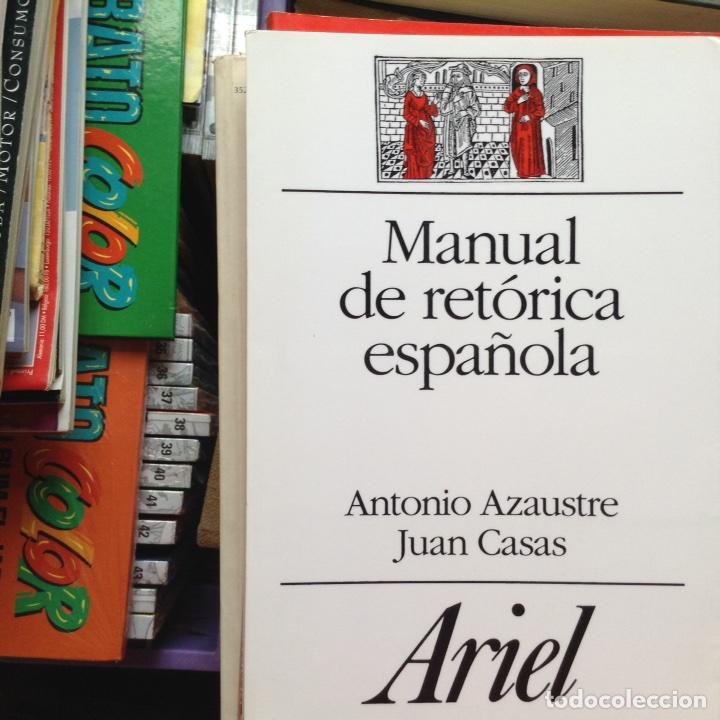 Manual de retórica española. (azaustre, antonio. Juan casas.