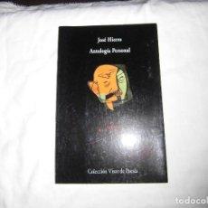 Libros de segunda mano: JOSE HIERRO ANTOLOGIA PERSONAL.COLECCION VISOR DE POESIA 2001.-2ª EDICION. Lote 94822723