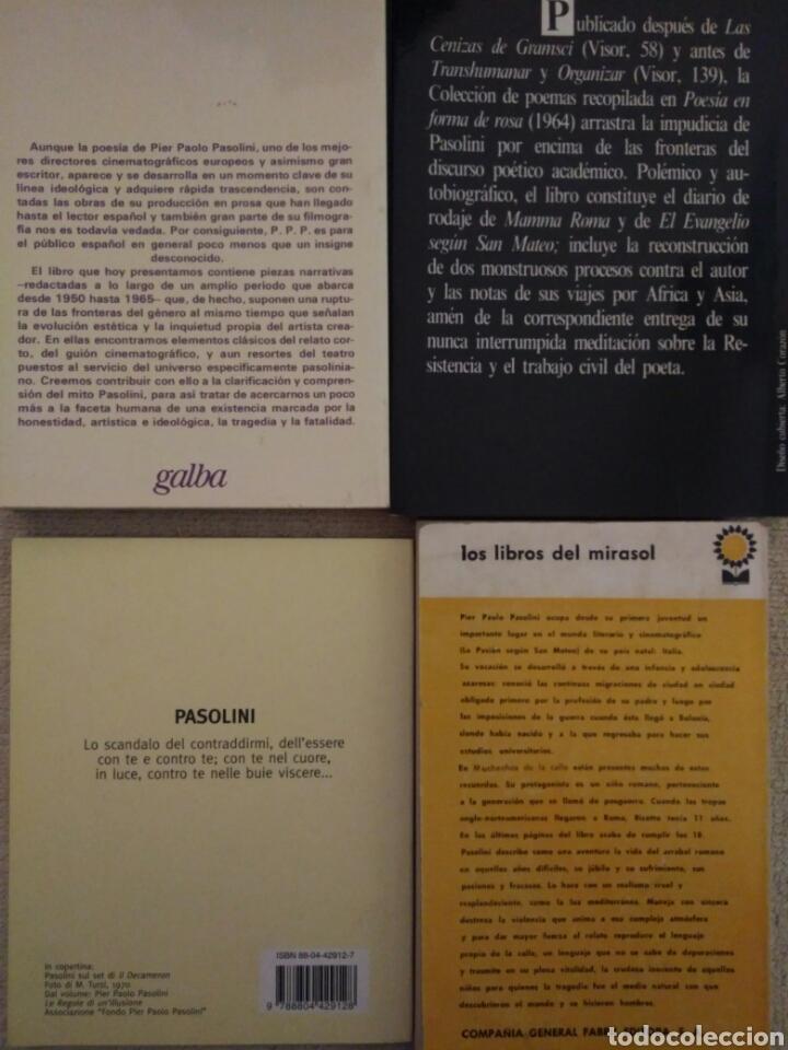 Libros de segunda mano: Lote de libros de Pier Paolo Pasolini - Foto 2 - 95302110