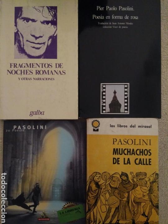 LOTE DE LIBROS DE PIER PAOLO PASOLINI (Libros de Segunda Mano (posteriores a 1936) - Literatura - Poesía)