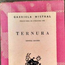 Libros de segunda mano: TERNURA - GABRIELA MISTRAL. Lote 95400923