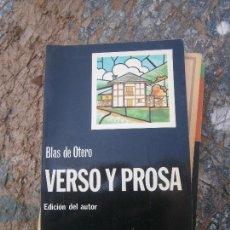 Libros de segunda mano: LIBRO VERSO Y PROSA BLAS DE OTERO 1980 ED. CATEDRA L-15601. Lote 95630507