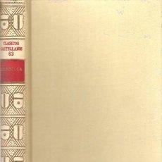 Libros de segunda mano: POESÍAS. ZORRILLA. ESPASA CALPE. CLÁSICOS CASTELLANOS, Nº 63. 1965.. Lote 95829663