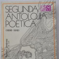 Libros de segunda mano: JUAN RAMÓN JIMENEZ. SEGUNDA ANTOLOJIA POÉTICA. SELECCIONES AUSTRAL. EDITORIAL ESPASA CALPE AÑO 1981. Lote 96509263