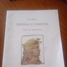 Libros de segunda mano: DIVINA COMEDIA ILUSTRADA POR MIQUEL BARCELÓ. Lote 126849292