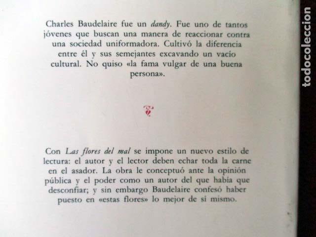 Libros de segunda mano: Las flores del mal. Charles Baudelaire. Cátedra letras universales. Edición Bilingüe. 1998 - Foto 2 - 98813679