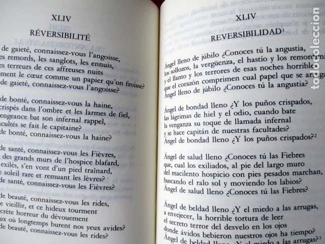 Libros de segunda mano: Las flores del mal. Charles Baudelaire. Cátedra letras universales. Edición Bilingüe. 1998 - Foto 4 - 98813679